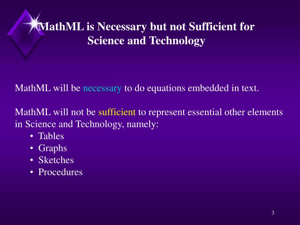 MathML is Necessary but not Sufficient for
