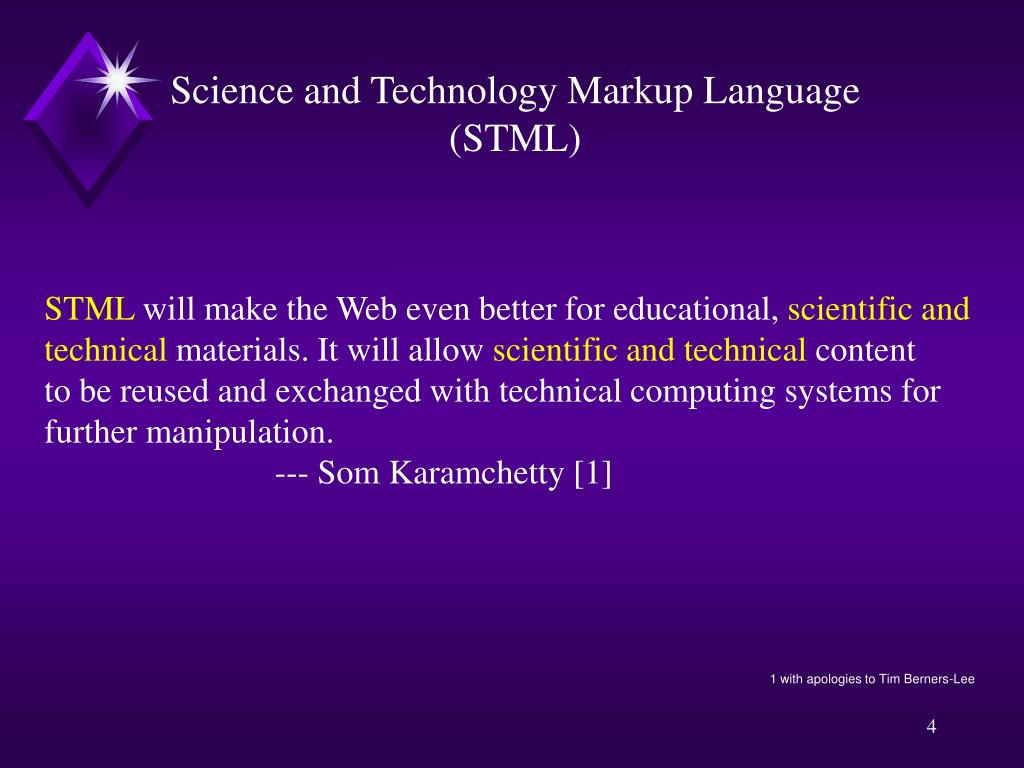 Science and Technology Markup Language