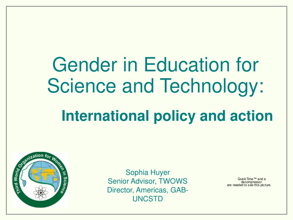 gender in education for science and technology