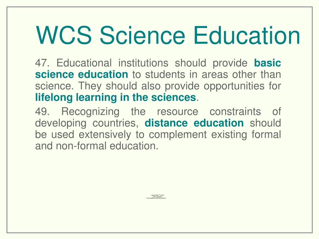 WCS Science Education