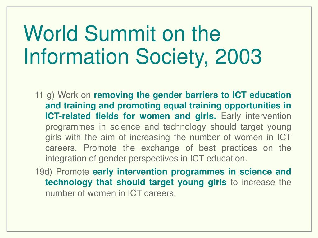 World Summit on the Information Society, 2003