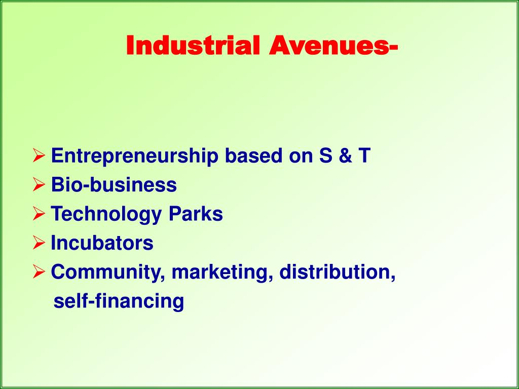 Industrial Avenues-
