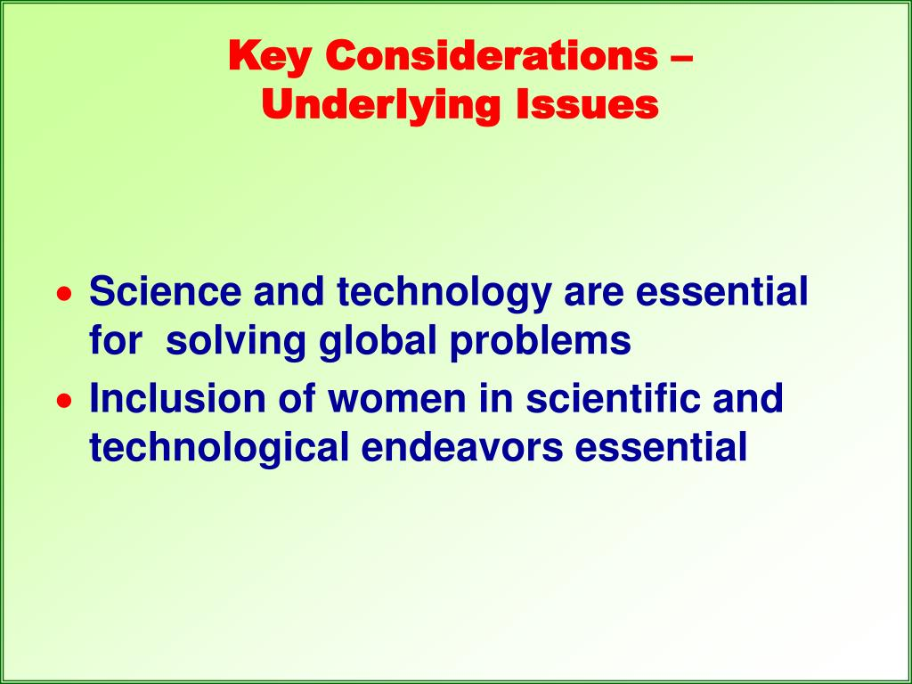 Key Considerations –