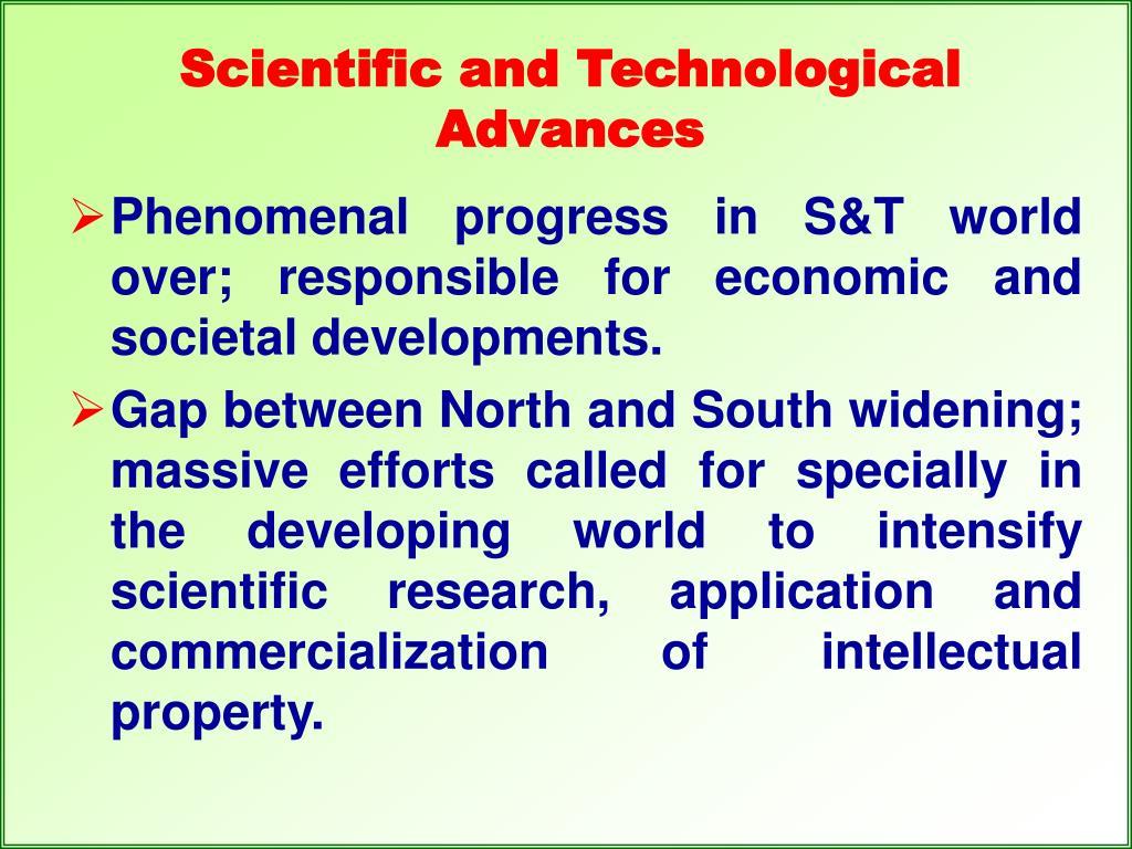 Scientific and Technological Advances