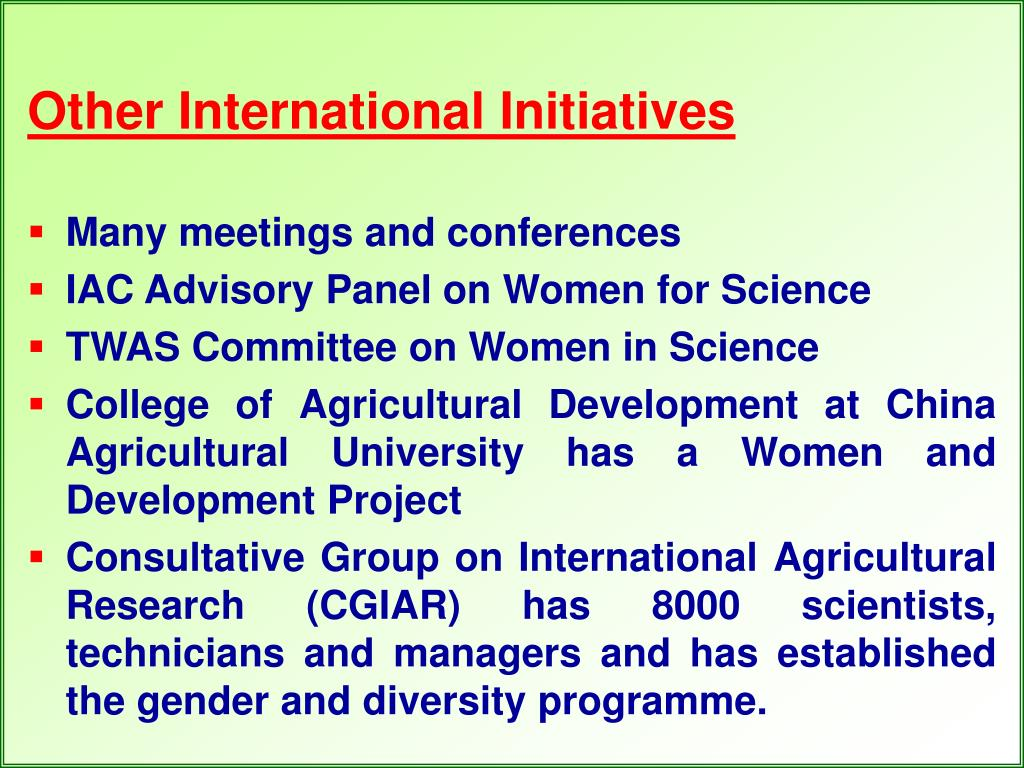 Other International Initiatives