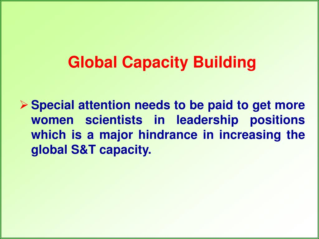 Global Capacity Building