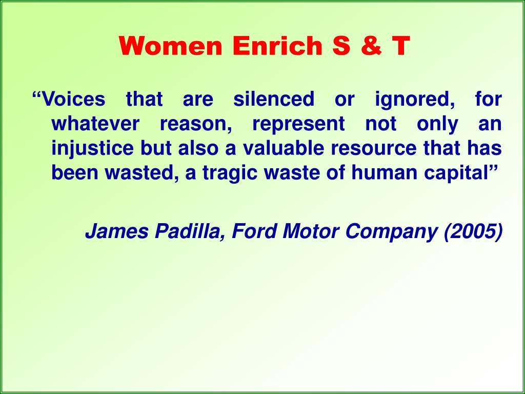 Women Enrich S & T