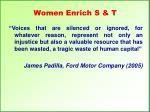 women enrich s t