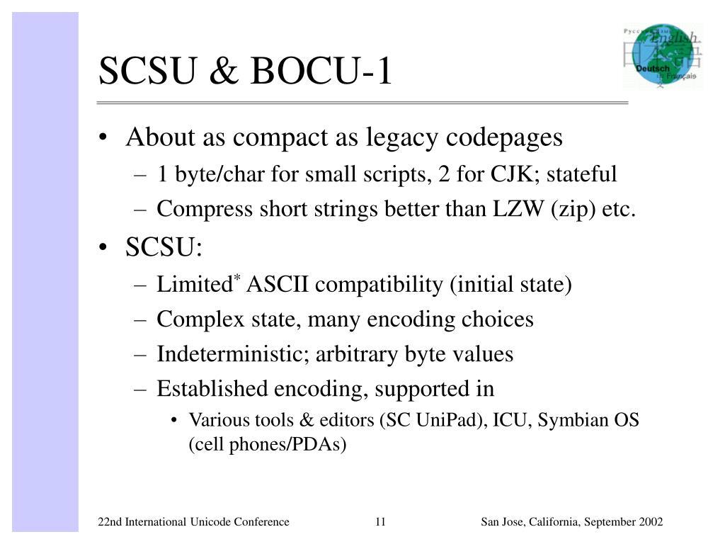 SCSU & BOCU-1