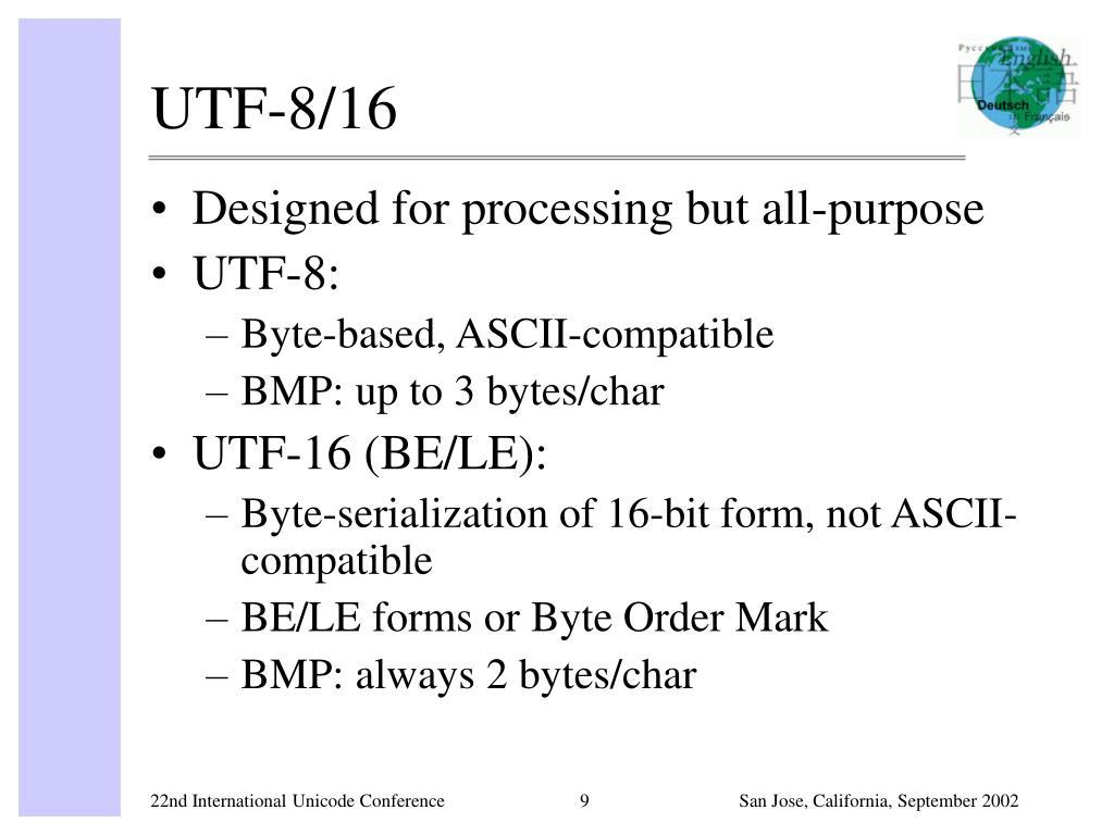 UTF-8/16