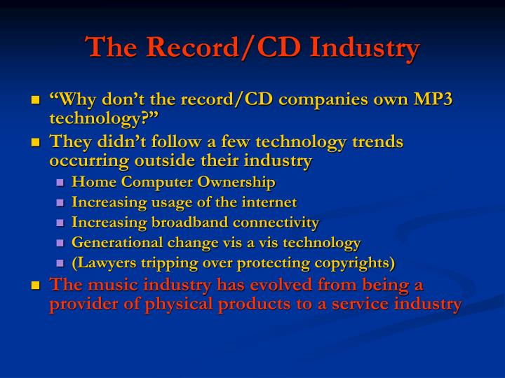 The Record/CD Industry