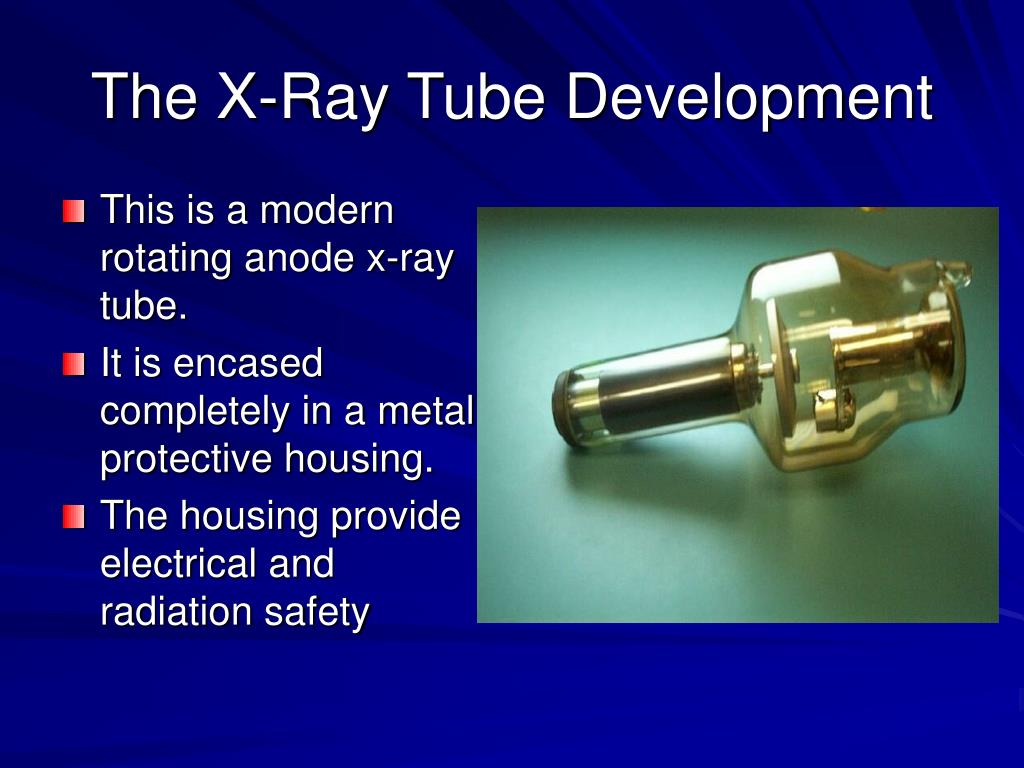 This is a modern rotating anode x-ray tube.