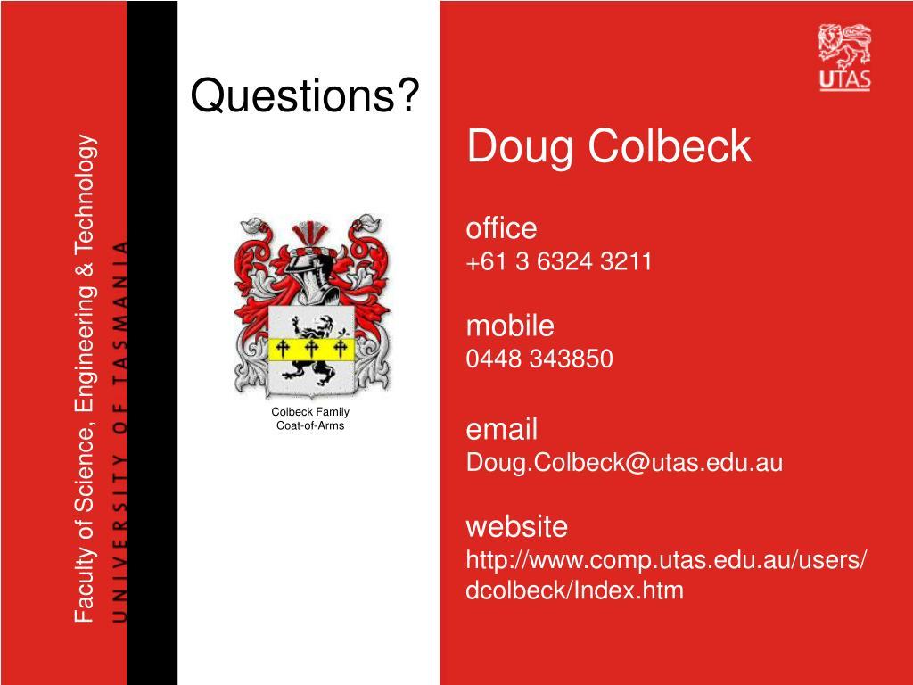 Doug Colbeck