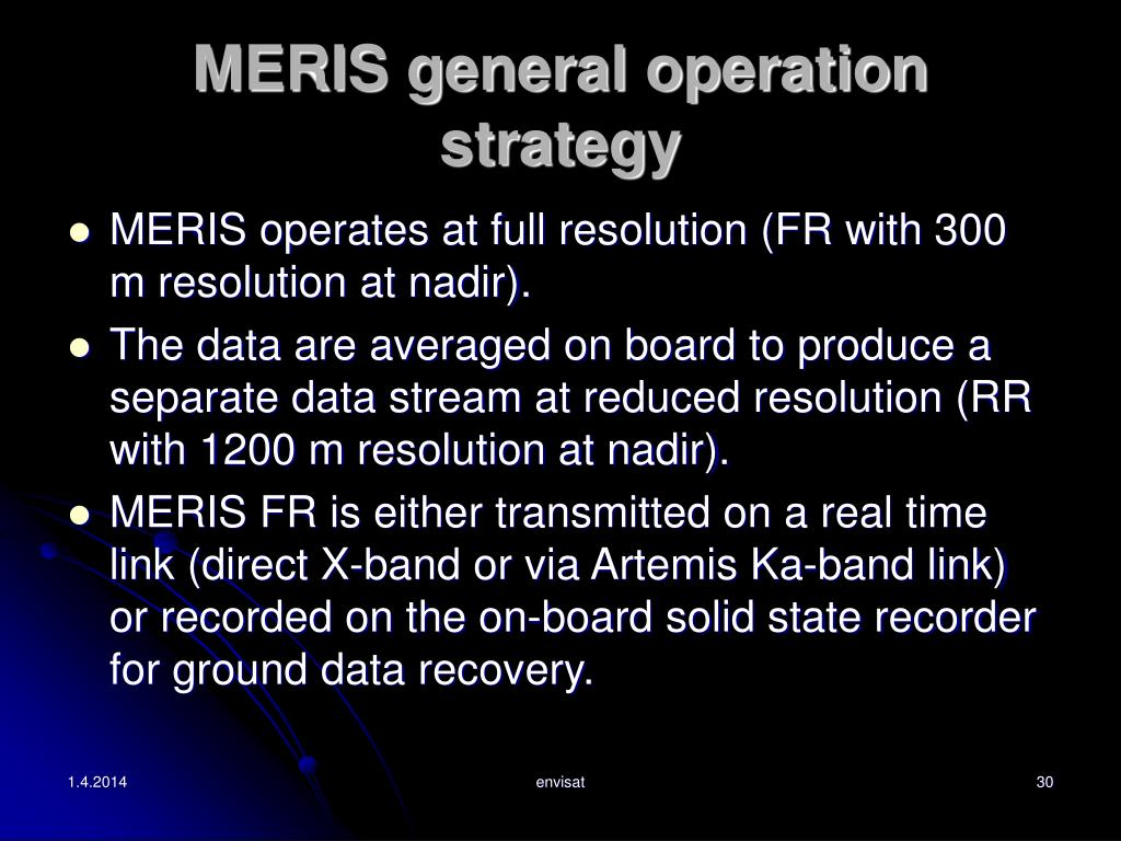 MERIS general operation strategy