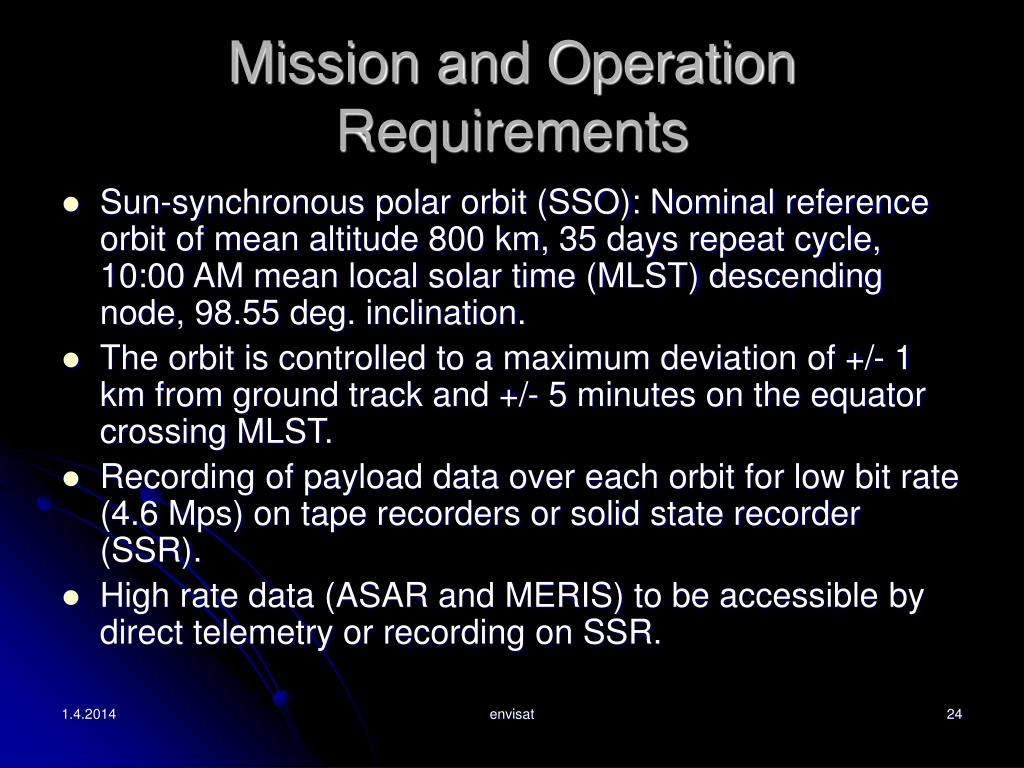 Mission and Operation Requirements