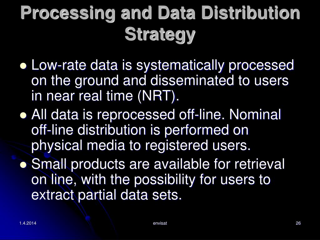 Processing and Data Distribution Strategy