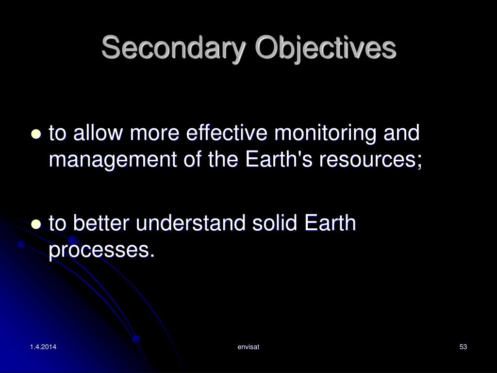 Secondary Objectives