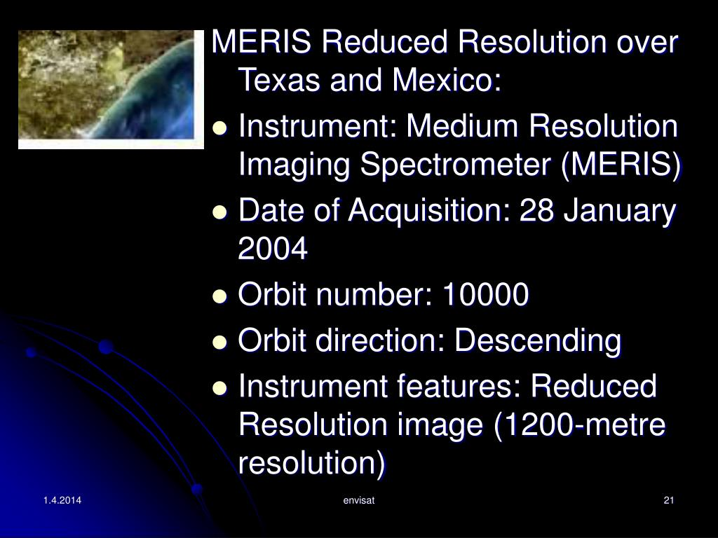 MERIS Reduced Resolution over Texas and Mexico: