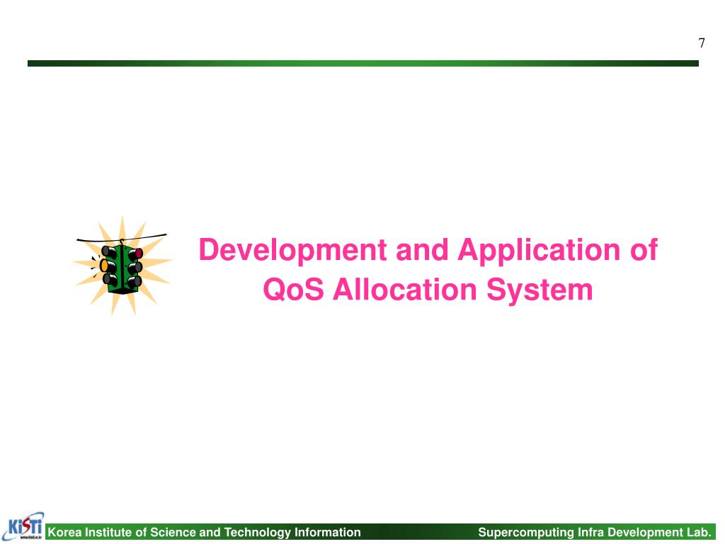 Development and Application of QoS Allocation System