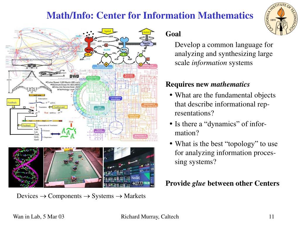 Math/Info: Center for Information Mathematics