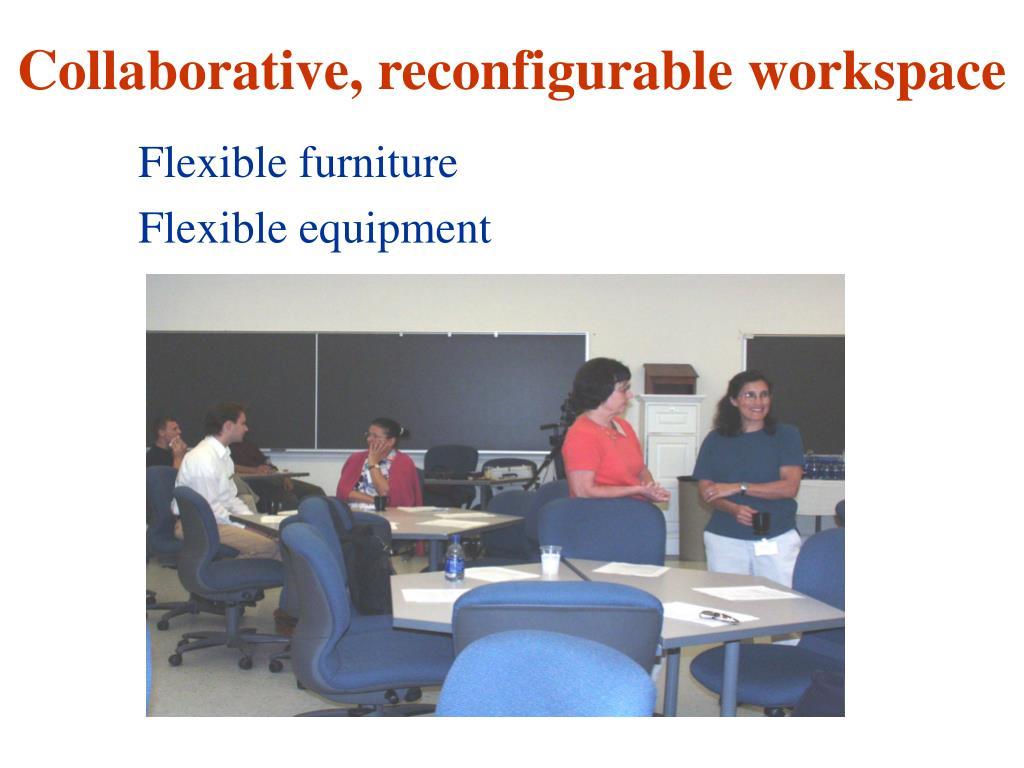 Collaborative, reconfigurable workspace