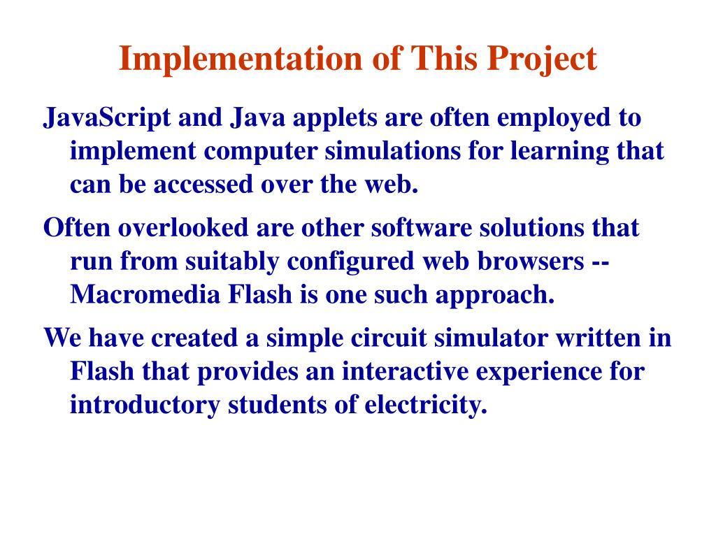 Implementation of This Project