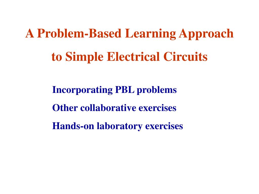 A Problem-Based Learning Approach