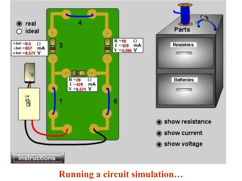 Running a circuit simulation…