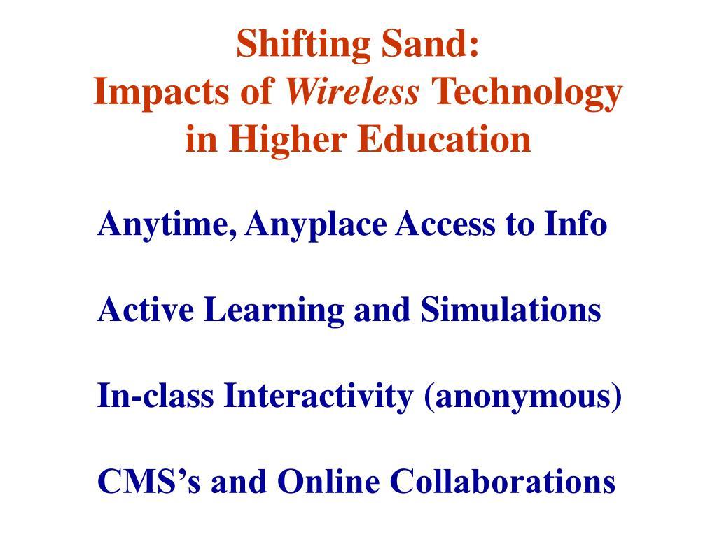 Shifting Sand: