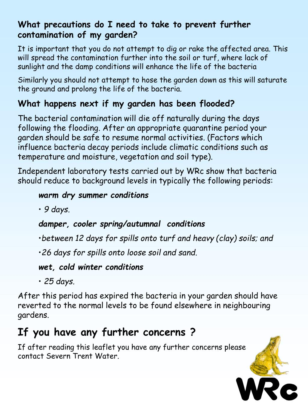 What precautions do I need to take to prevent further contamination of my garden?