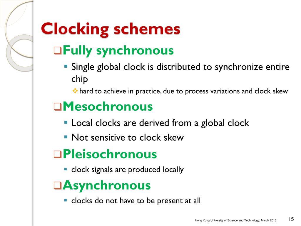 Clocking schemes