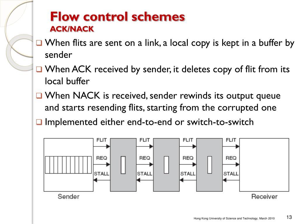 Flow control schemes