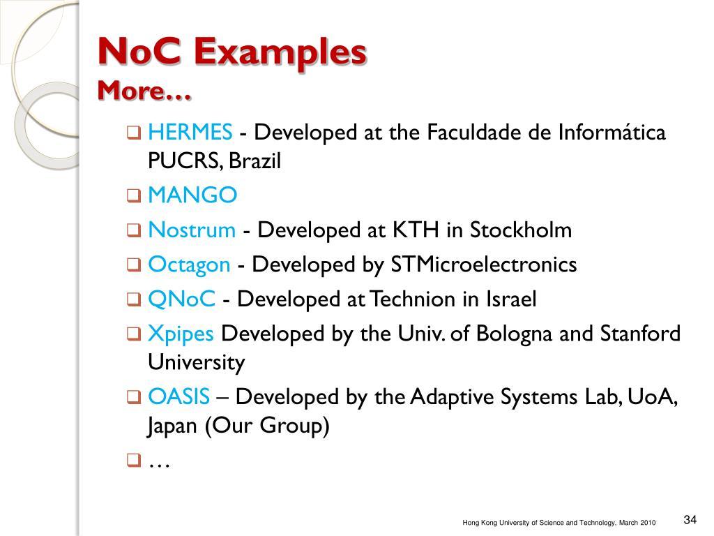 NoC Examples