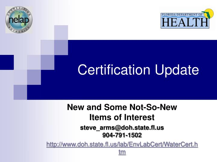 Certification update l.jpg