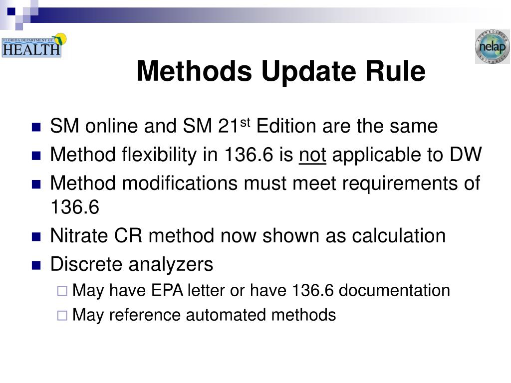 Methods Update Rule