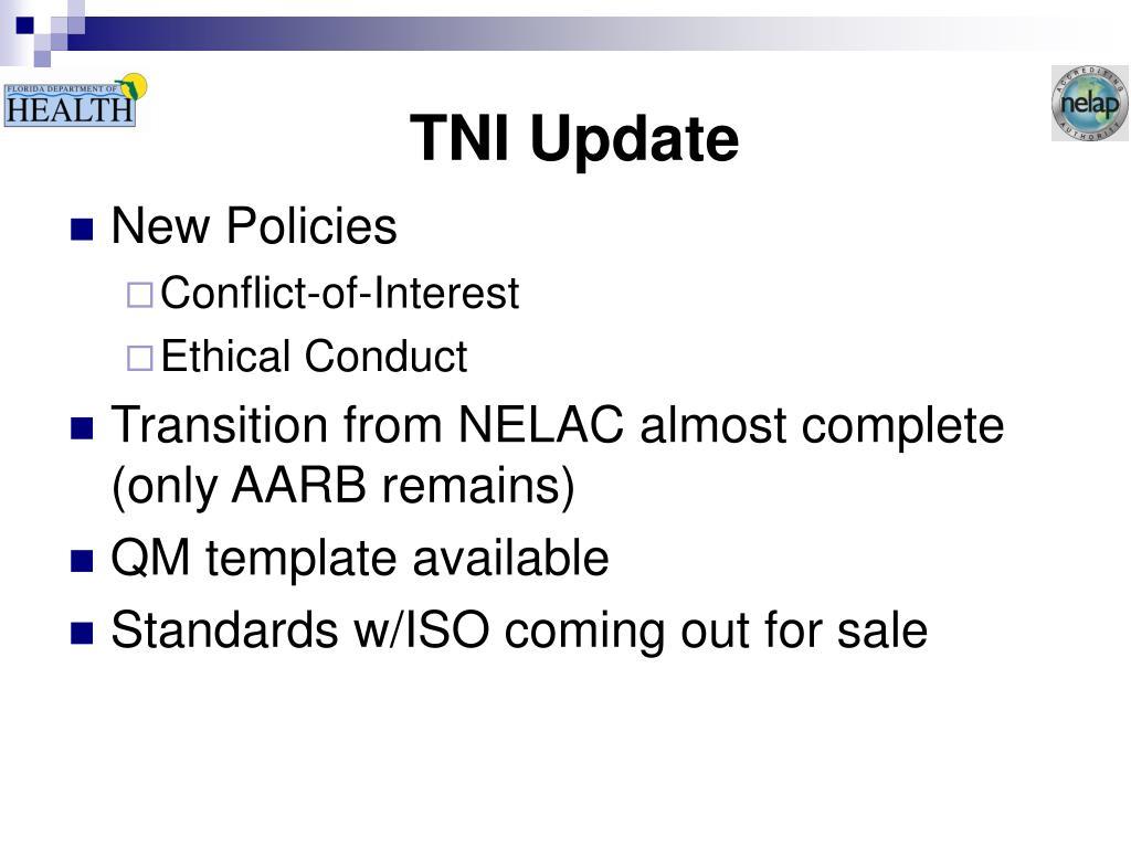TNI Update