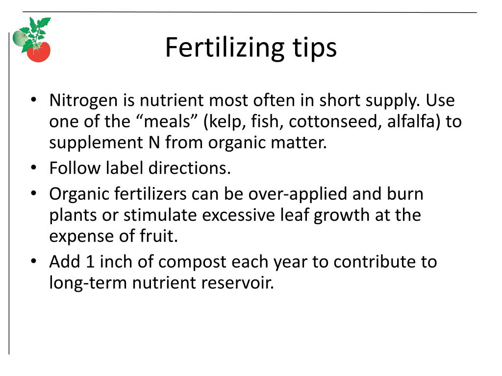 Fertilizing tips