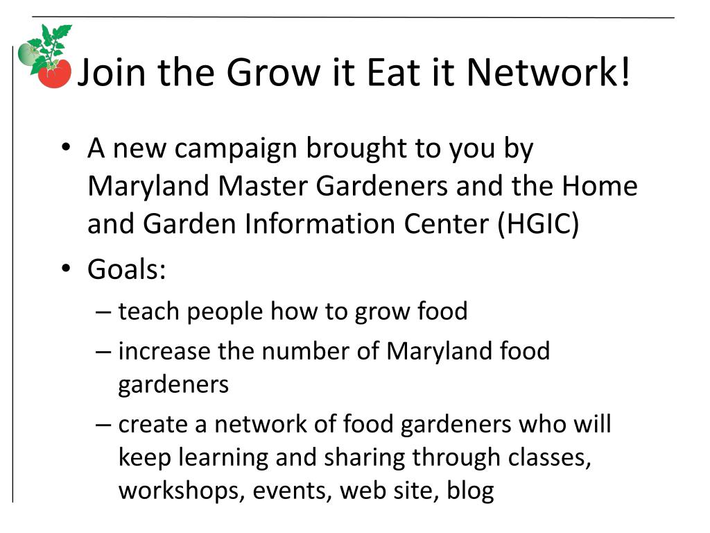 Join the Grow it Eat it Network!