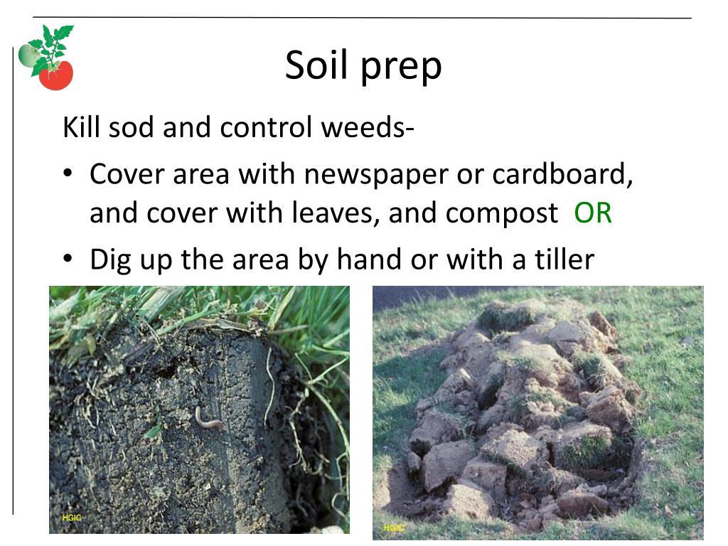 Soil prep
