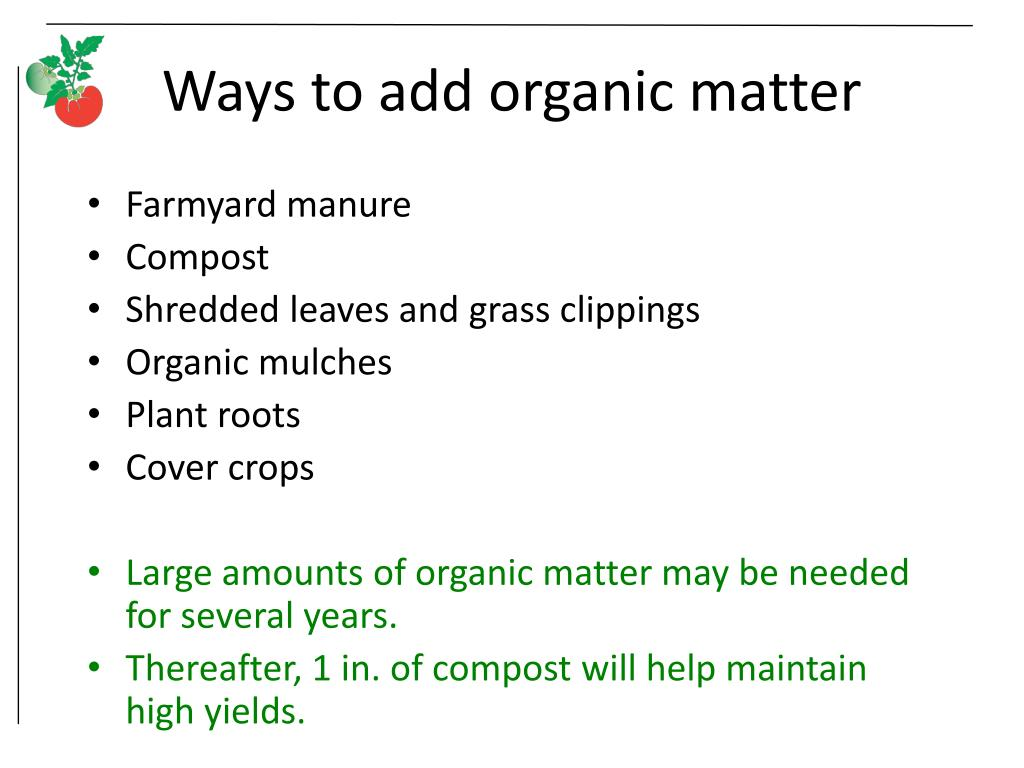 Ways to add organic matter
