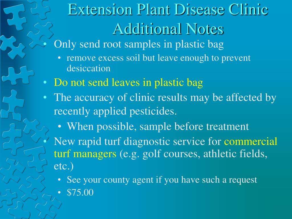 Extension Plant Disease Clinic