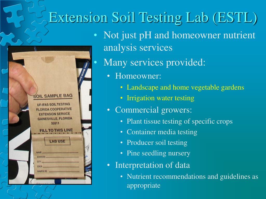 Extension Soil Testing Lab (ESTL)