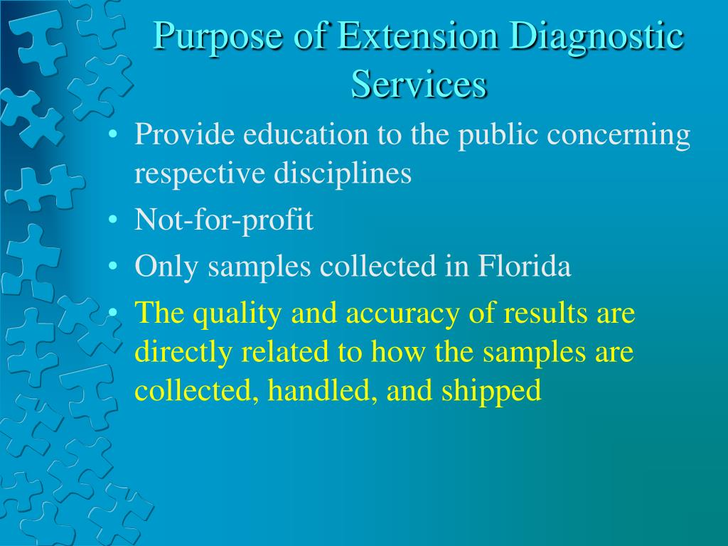 Purpose of Extension Diagnostic Services