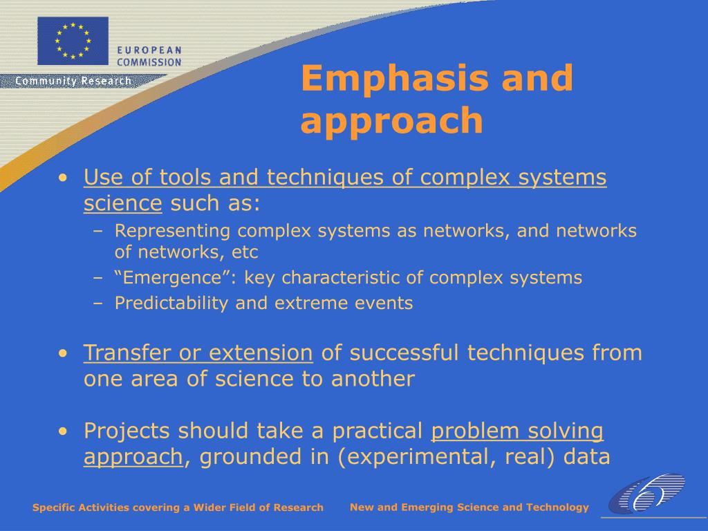 Use of tools and techniques of complex systems science