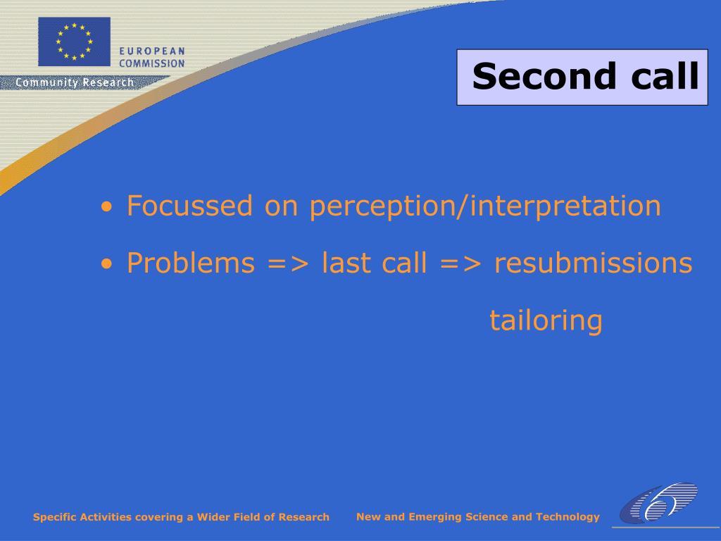 Focussed on perception/interpretation