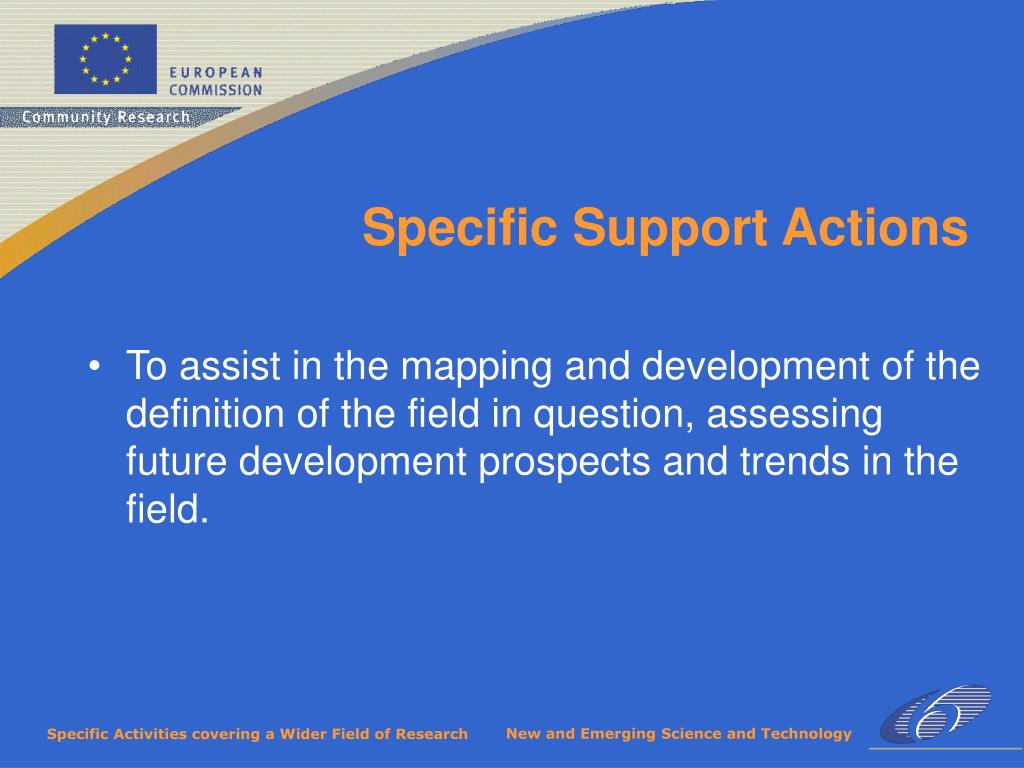 To assist in the mapping and development of the definition of the field in question, assessing future development prospects and trends in the field.
