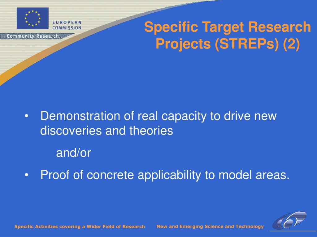 Specific Target Research Projects (STREPs) (2)
