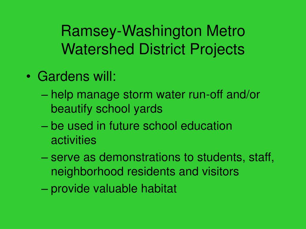 Ramsey-Washington Metro Watershed District Projects