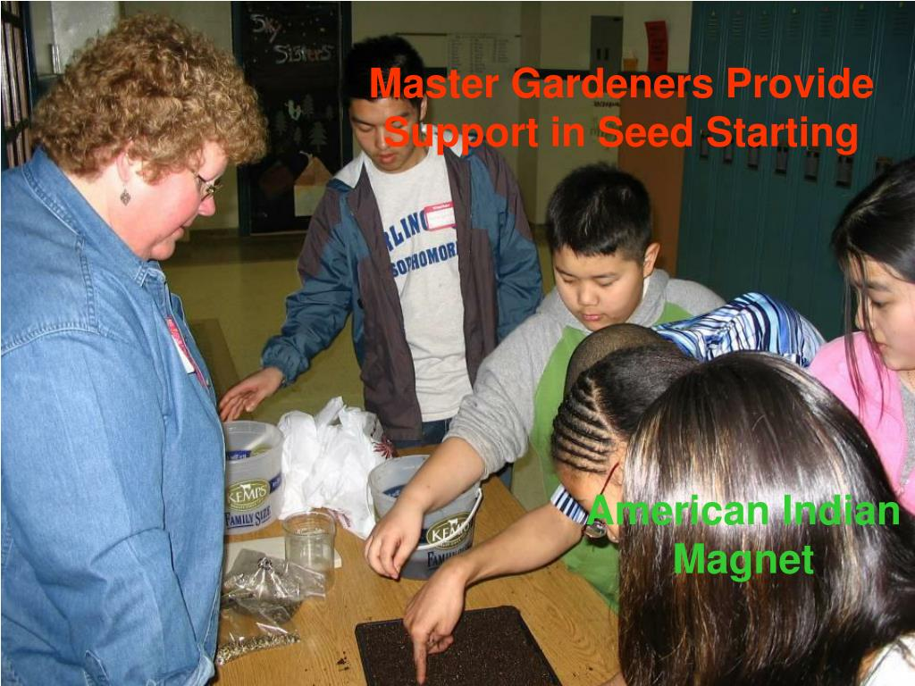 Master Gardeners Provide Support in Seed Starting