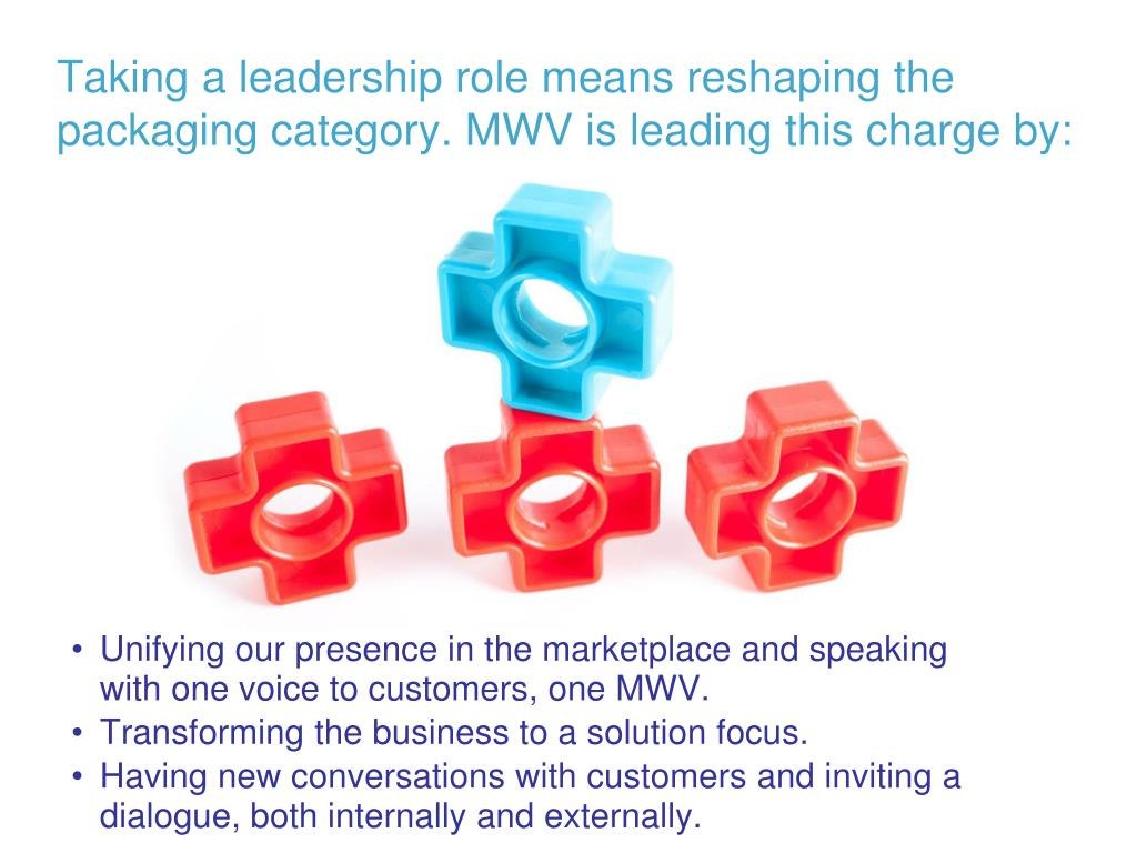Taking a leadership role means reshaping the packaging category. MWV is leading this charge by: